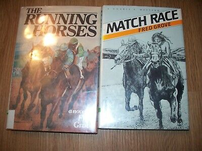 Running Horses Match Race Fred Grove Childrens Horse Book Lot