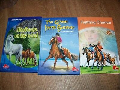 Pony Green Summer Hoofbeats Wind Fighting Chance Childrens Horse Book Lot