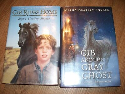 Gib Rides Home Gray Ghost Zilpha Snyder Childrens Horse Book Lot
