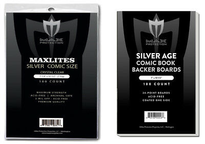 500 Max Pro Maxlites Ultra Clear Premium Silver Comic Bags and Boards Acid Free
