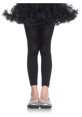 Girls Black Footless Tights