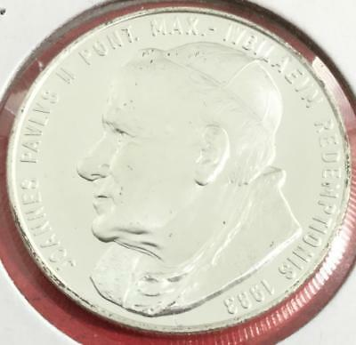 1983 Gorgeous Holy Pope John Paul II SILVER Coin! Choice Uncirculated! Vatican!