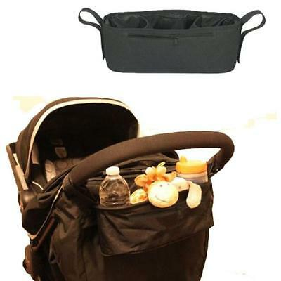 Baby Stroller Pushchair Safe Console Tray Cup Holder Organizer Hanging Bag Y