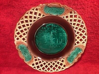 Antique Wedgwood Majolica Reticulated Plate c.1800's, em140 ANTIQUE GIFT QUALITY