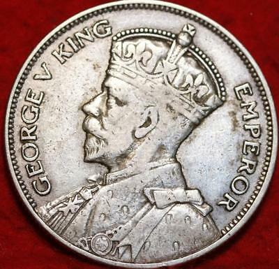 1934 New Zealand 1/2 Crown Silver Foreign Coin