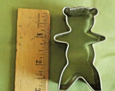 Metal Small Teddy Bear Christmas Cookie Cutter Crafts Good Condition