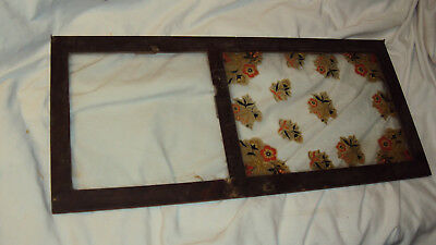 Antique Wood Works mantle clock door w/ glass and key lock