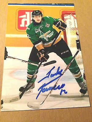 Julien Gauthier SIGNED 4x6 photo VAL D'OR FOREURS / CAROLINA HURRICANES