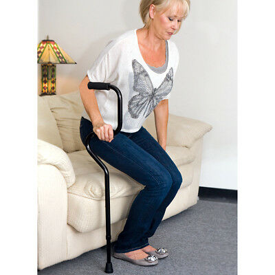 """NEW Aluminum Sit And Rise Cane w/ 2 Easy Grip Foam Handles Adjusts 31.5"""" - 40.5"""""""