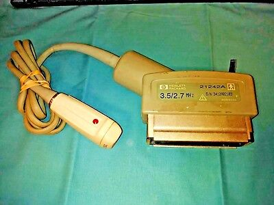 Hewlett Packard 21242A 3.5 2.7Mhz Ultrasound Probe Cardiac Hp 1000 1500 2000 Vet