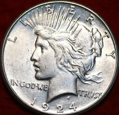 Uncirculated 1924-S San Francisco Mint Silver Peace Dollar