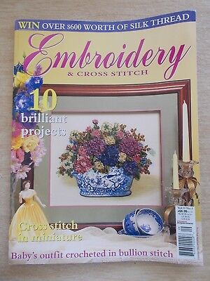 Embroidery & Cross Stitch Vol 12 #3~Rosie the Dragon~Crochet~Hatband~Chatelaine