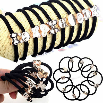 Hot 10X/Set Girls Elastic Hair Ties Band Ropes Ring Ponytail Holder Accessories