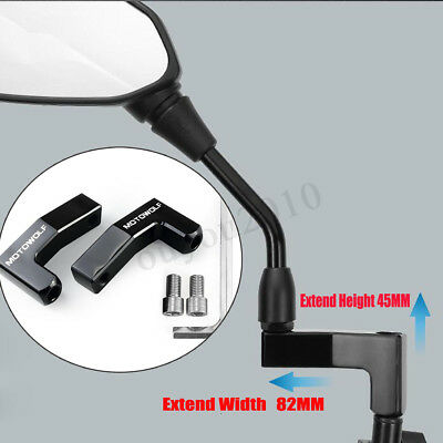 2Pcs 10Mm Motorcycle Mirror Riser/extender Adaptor/adapter Mounts Motorbike/bike