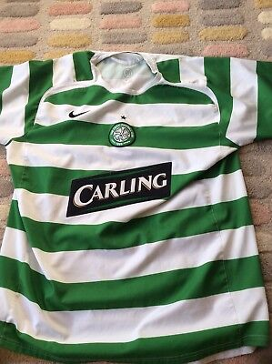 Nike Celtic Glasgow Football Shirt Jersey Carling Large