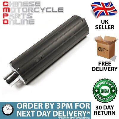 Black Exhaust Silencer 500mm for Kinroad Typhoon 125 XT125-18 (EXHSIL021)