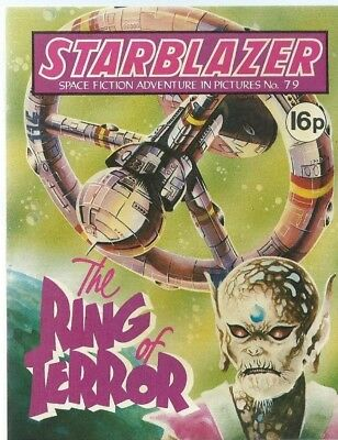 The Ring Of Terror,starblazer Space Fiction Adventure In Pictures,comic,no.79