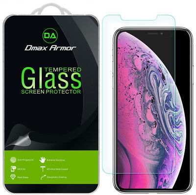 "3Pack Dmax Armor Tempered Glass Screen Protector For Apple iPhone XS Max 6.5"" Ou"