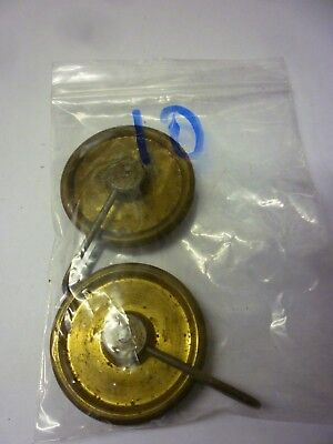 Pair Of Original Antique 8 Day Grandfather Clock Weight Pulleys (10)