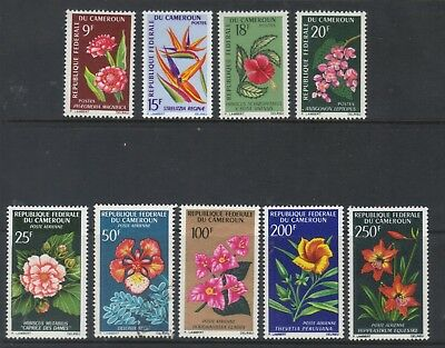 French Camerouns 1966 Flowers Postage & Air Sets Mixed Mnh / Used