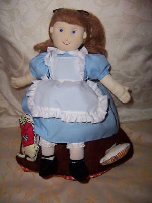 Topsy Turvey Soft Toy Cloth Doll Alice In Wonderland Mad Hatter Queen Of Hearts