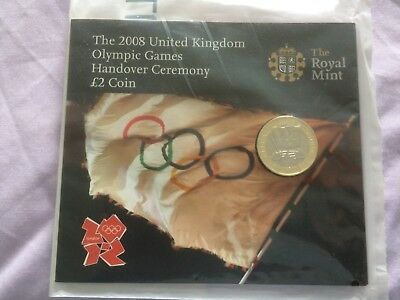 2008 ROYAL MINT BUNC £2 COIN SEALED PACK - Beijing to London Olympics Handover