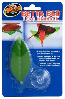 NEW Zoo Med Ornament Betta Bed Leaf Hammock Natural Resting Place Fish Sleep