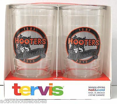 2 Tervis Tumbler Hooters 30th Anniversary Limited Edition 2013 16 oz New Travel
