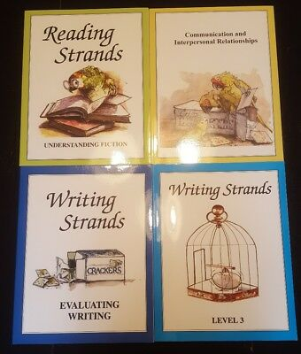 Language Arts book lot including Reading Strands and Writing Strands