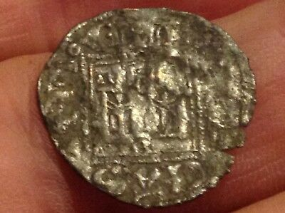 Spanish King Alfonso XI medieval Burgos mint-Noven Dinero Coin Ca 1332-1334 NW32
