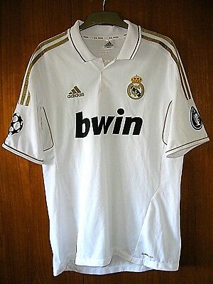 Real Madrid Football Shirt adidas rare sample from 2010 size M 40 UEFA patches