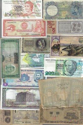 Lot of Assorted Paper Money Banknotes World Currency #28