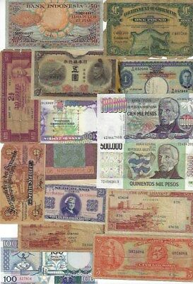 Lot of Assorted Paper Money Banknotes World Currency #29