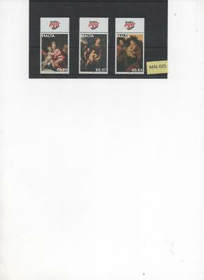Malta 2011 Christmas issue set of 3 MNH Stamps SG1713-5