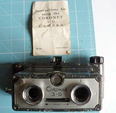 Coronet 3D with manual and leather case.Speckled bakelite version