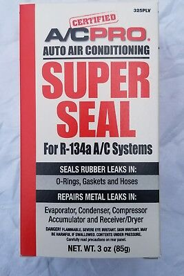 R134a,R134 AC Super Seal REFRIGERANT Metal & Rubber A/C PRO STOP LEAK NO TOOLS