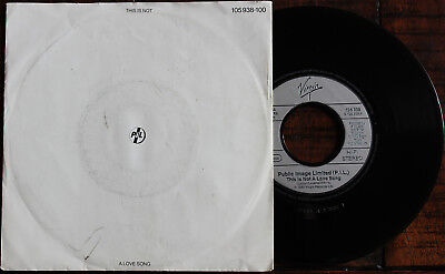 PIL (Public Image Limited): This is not a Love Song - 7'' Single (1983)