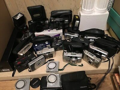 Joblot Vintage Cameras Untested With Bags And New Lenses
