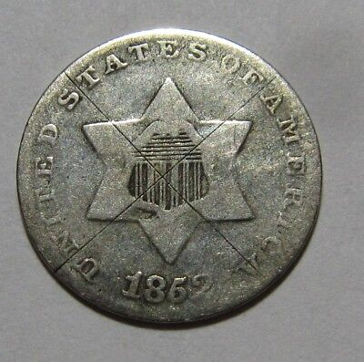 1852 Three Cent Silver - Circulated Condition - 39SA