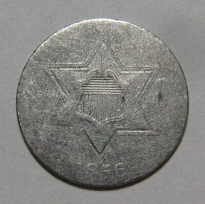 1856 Three Cent Silver - Circulated Condition - 41SA
