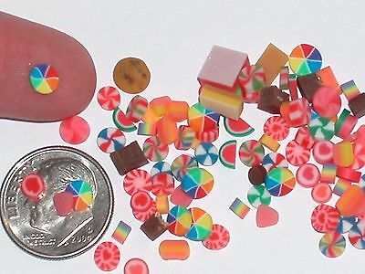 25pc Lot miniature dollhouse barbie size tiny Christmas Mix Candy jar treat food