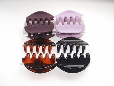4 x HAIR CLAW GRIPS 5CM LONG