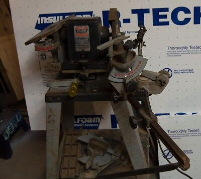 foley belsaw 1055 sharp-all with many grinding wheels,attachments and manuals