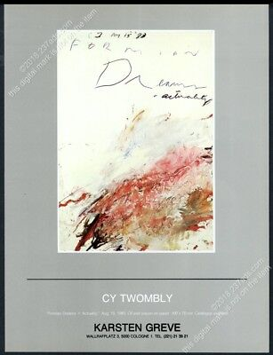 1983 Cy Twombly art Cologne gallery show vintage print ad