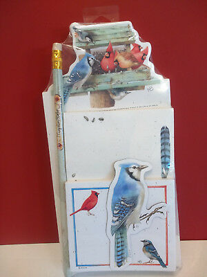 Marjolein Bastin Memo Pad Notepad Magnet & Pencil Gift Set Birds Blue Jay Sealed