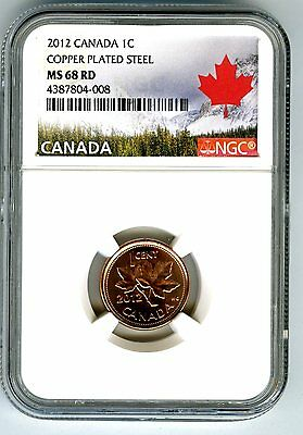 2012 Canada Cent Ngc Ms68 Magnetic Steel High Grade Last Year Canada Label Rare!