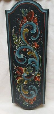 Rosemaling Painted~Wall Plaque~Norway~Norwegian Art~Signed~Amazing Detail