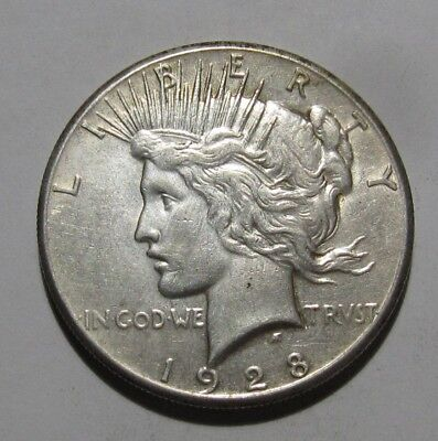 1928 Peace Dollar - Extra Fine to AU Condition - 241SA
