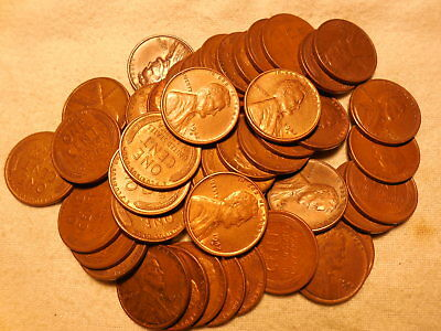 50 pcs.FULL ROLL LINCOLN WHEAT CENTS 1942-D AU/RB
