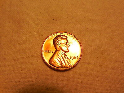 "High Grade 1966-P Lincoln Cent Sms "" Proof-Like ""  Bu/red"